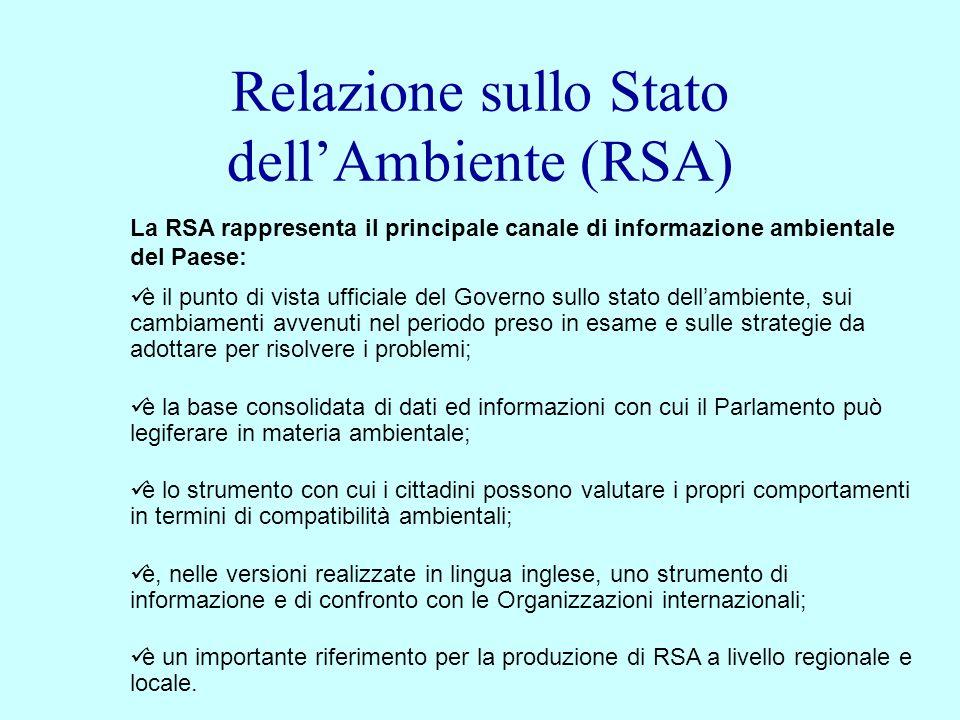 Relazione sullo Stato dell'Ambiente (RSA)