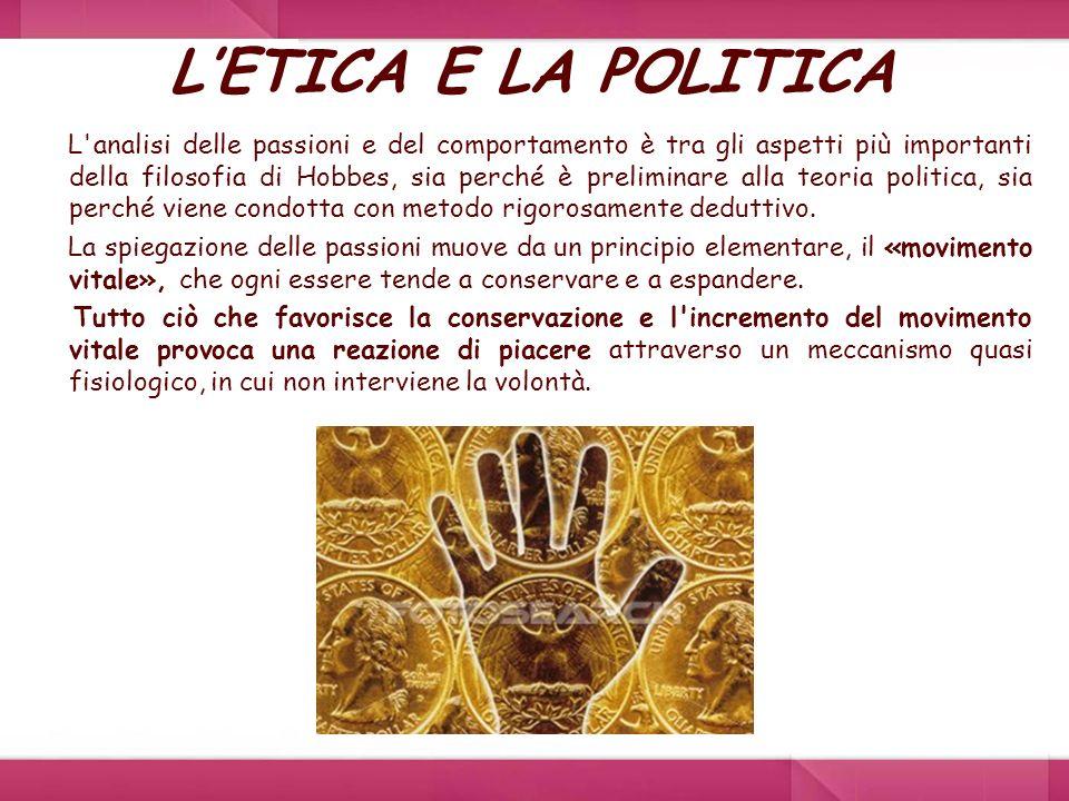 L'ETICA E LA POLITICA