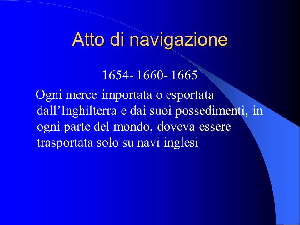 Atto di navigazione 1654- 1660- 1665.