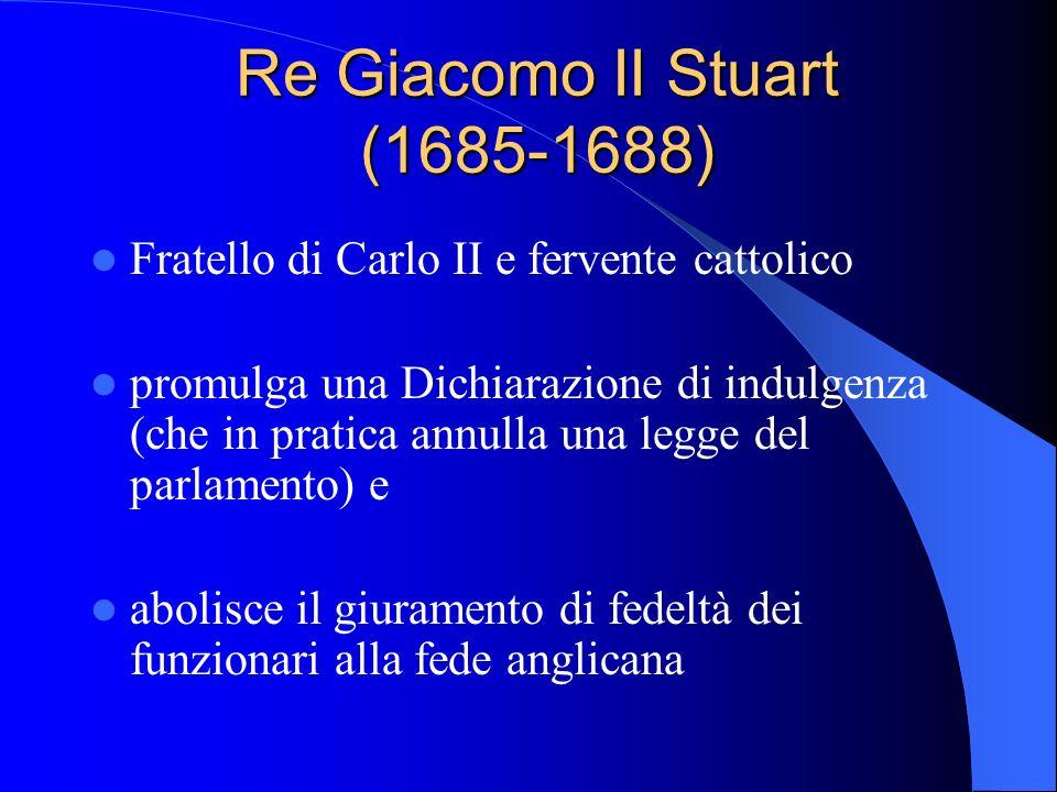 Re Giacomo II Stuart (1685-1688)