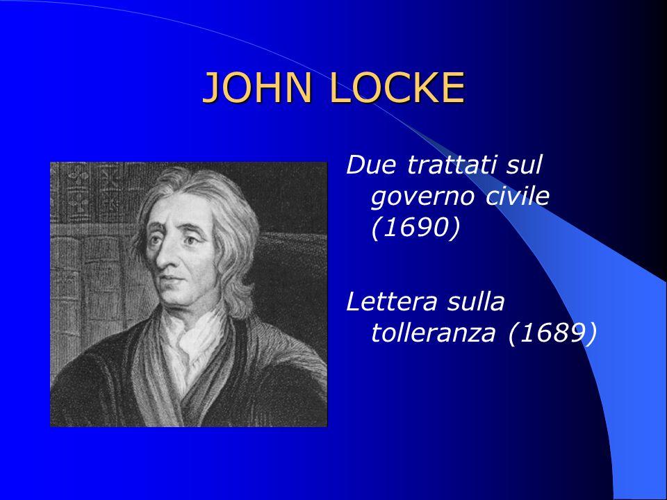 JOHN LOCKE Due trattati sul governo civile (1690)