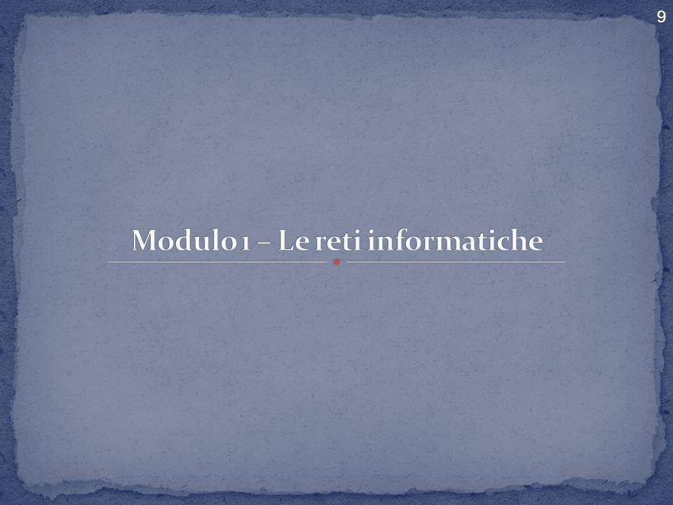 Modulo 1 – Le reti informatiche