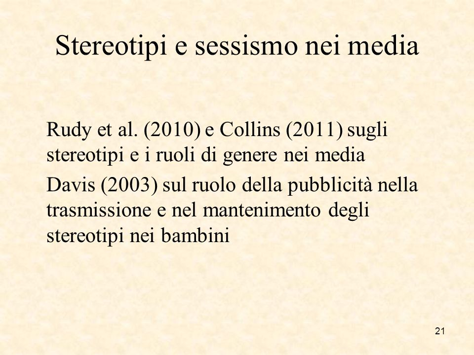 Stereotipi e sessismo nei media