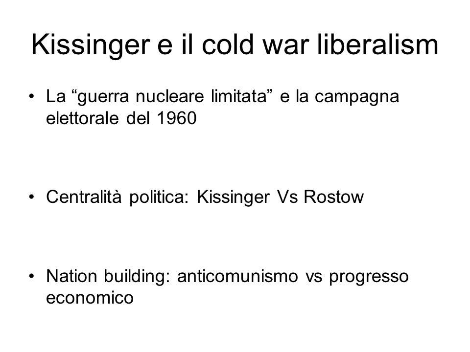 Kissinger e il cold war liberalism