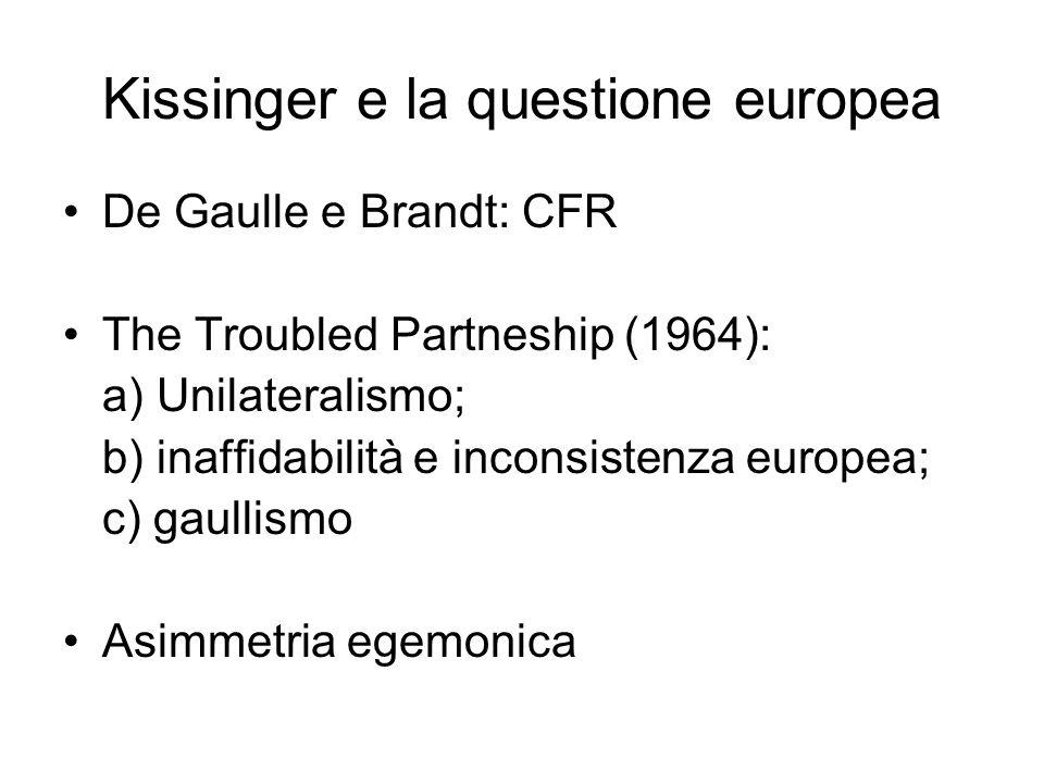 Kissinger e la questione europea