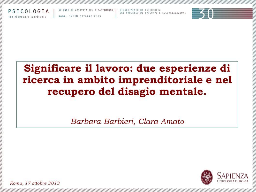 Barbara Barbieri, Clara Amato