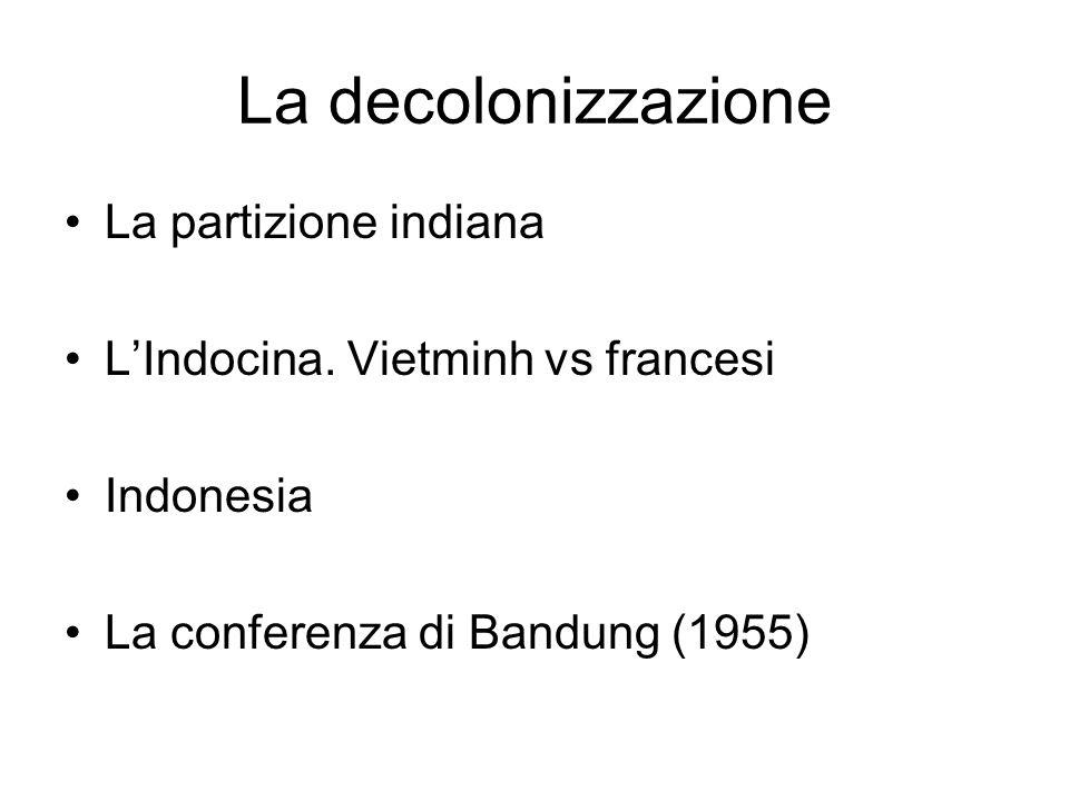 La decolonizzazione La partizione indiana