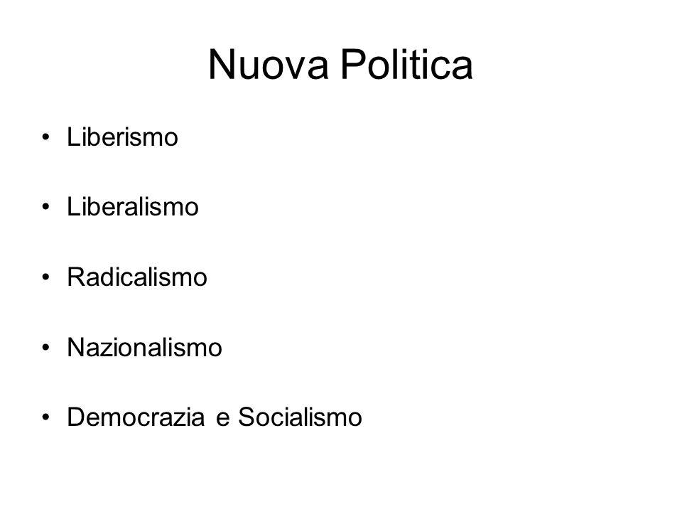 Nuova Politica Liberismo Liberalismo Radicalismo Nazionalismo