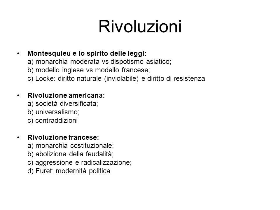 Rivoluzioni Montesquieu e lo spirito delle leggi: