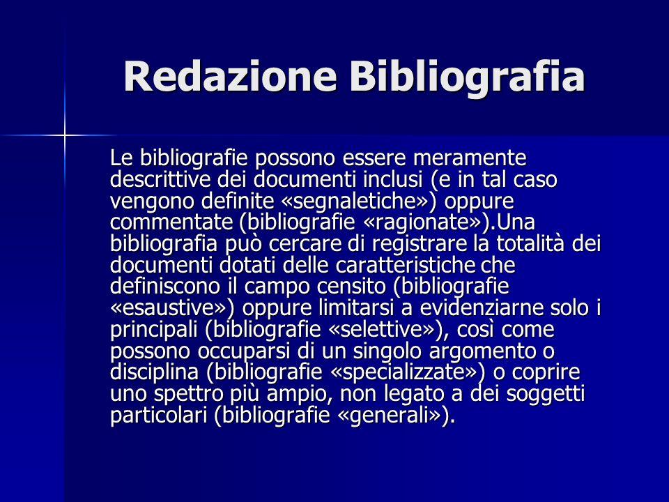 Redazione Bibliografia