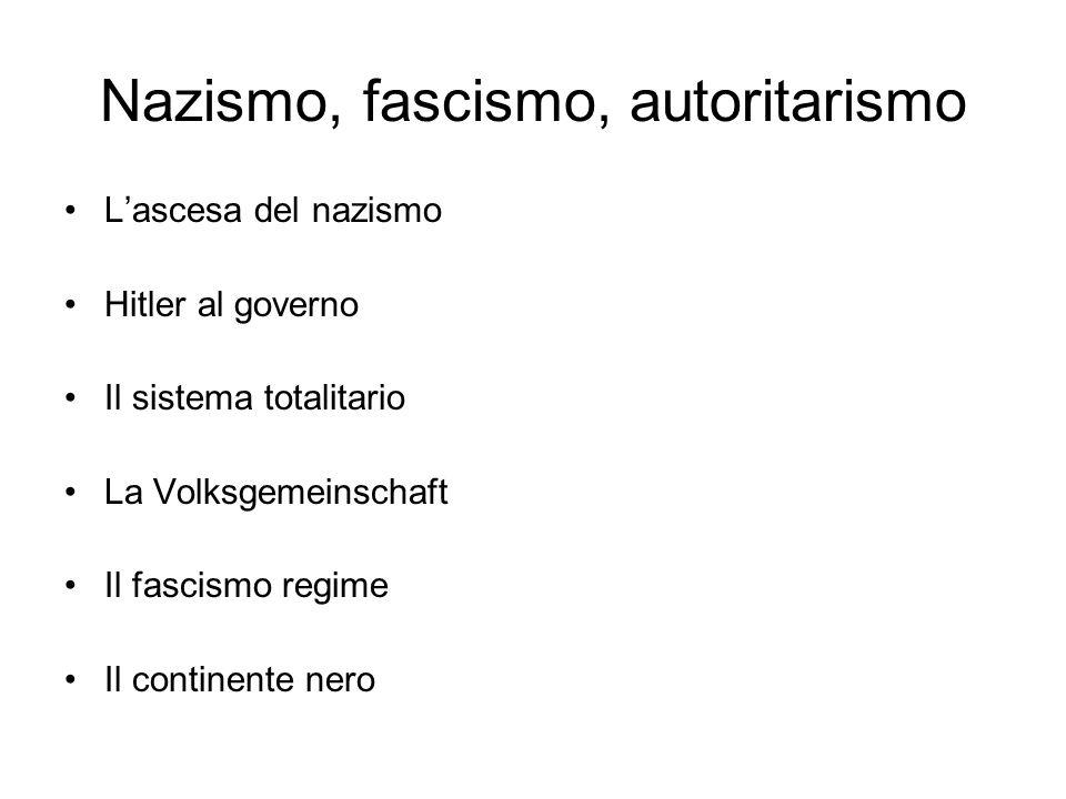 Nazismo, fascismo, autoritarismo
