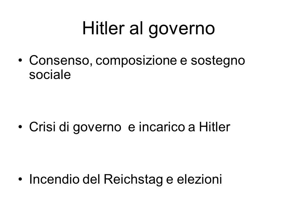 Hitler al governo Consenso, composizione e sostegno sociale