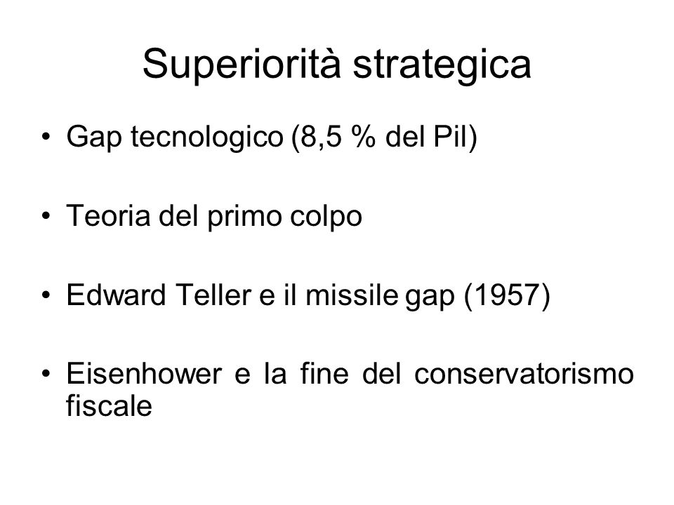 Superiorità strategica