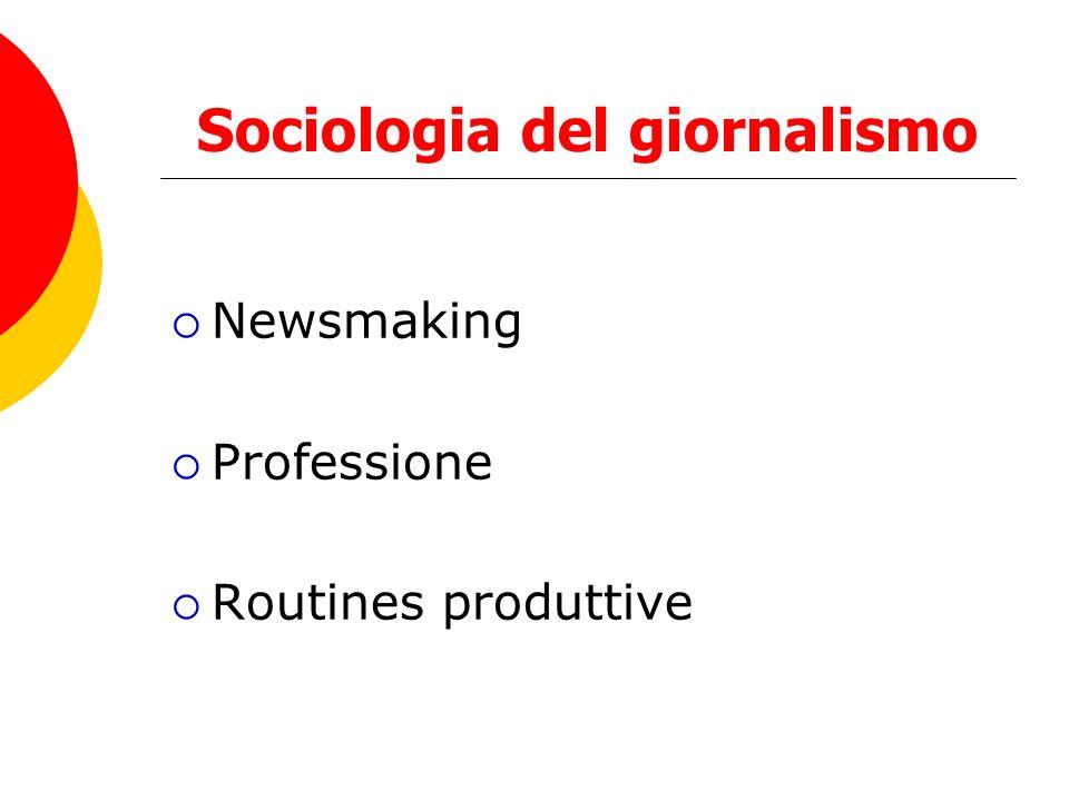 Sociologia del giornalismo