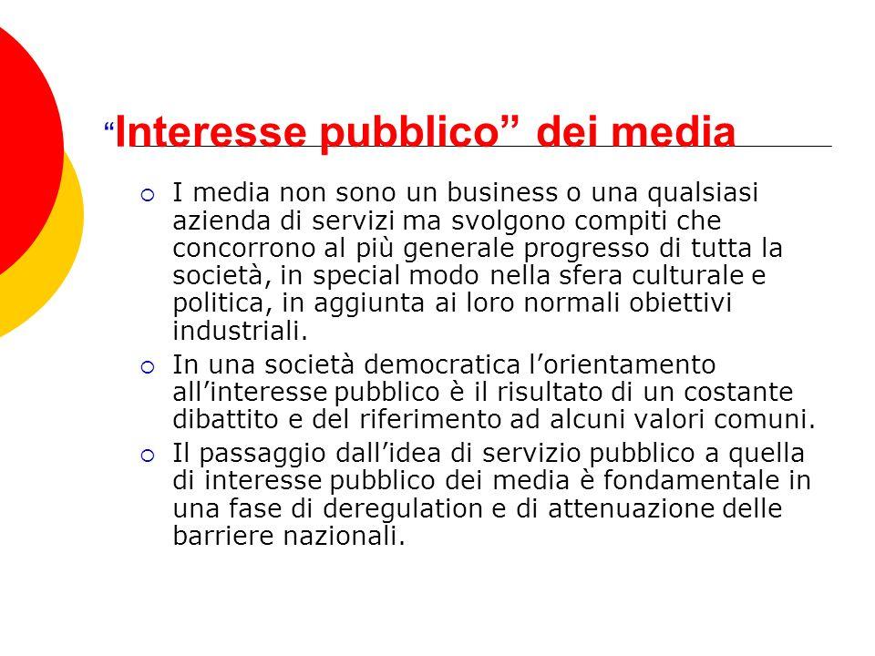 Interesse pubblico dei media