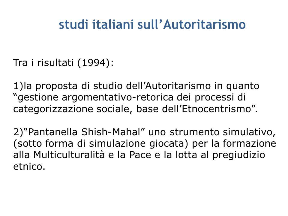 studi italiani sull'Autoritarismo