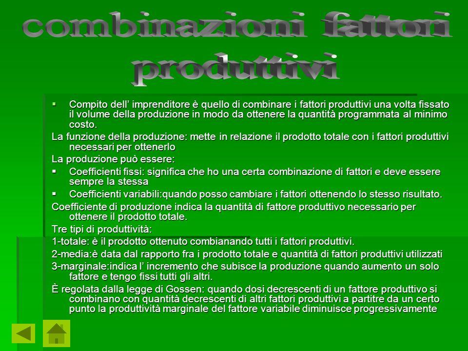 combinazioni fattori produttivi