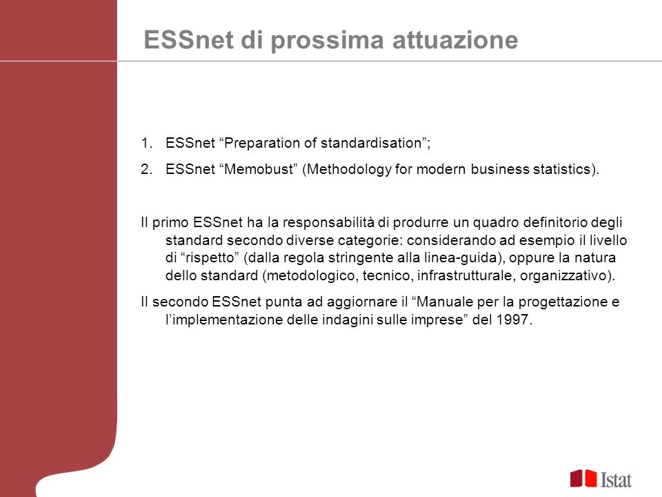 ESSnet di prossima attuazione