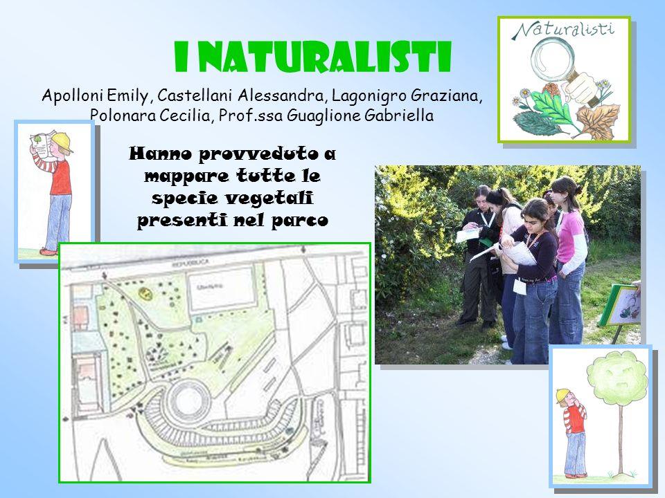 Hanno provveduto a mappare tutte le specie vegetali presenti nel parco
