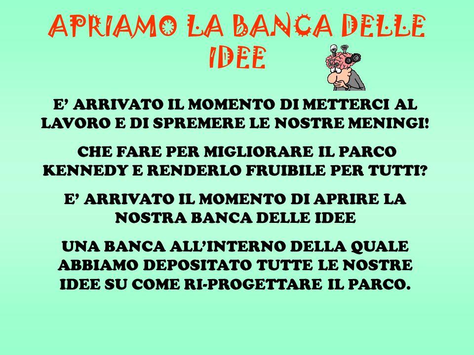 APRIAMO LA BANCA DELLE IDEE