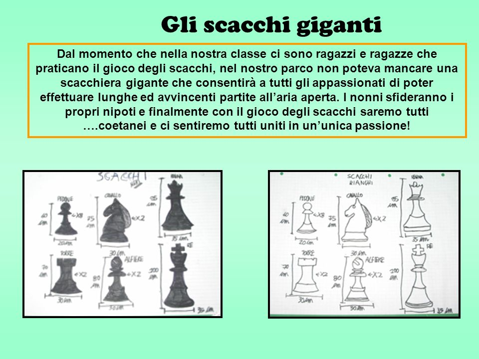 Gli scacchi giganti