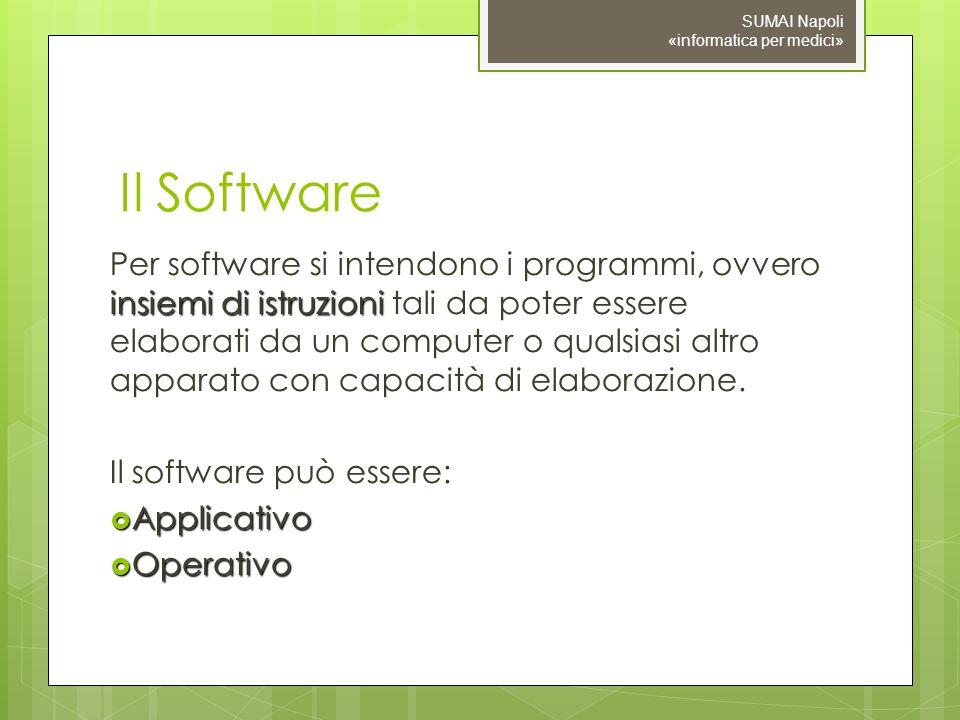 09/11/10 SUMAI Napoli «informatica per medici» Il Software.