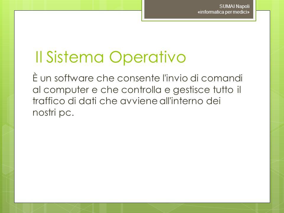 09/11/10 SUMAI Napoli «informatica per medici» Il Sistema Operativo.