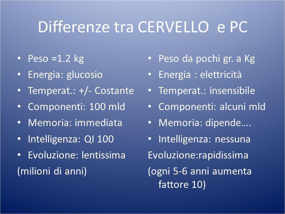 Differenze tra CERVELLO e PC
