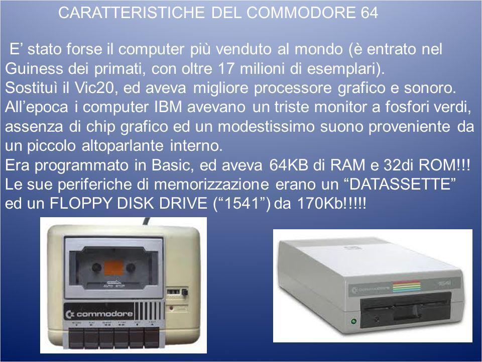 CARATTERISTICHE DEL COMMODORE 64