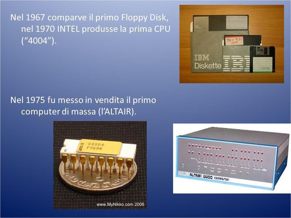 Nel 1975 fu messo in vendita il primo computer di massa (l'ALTAIR).