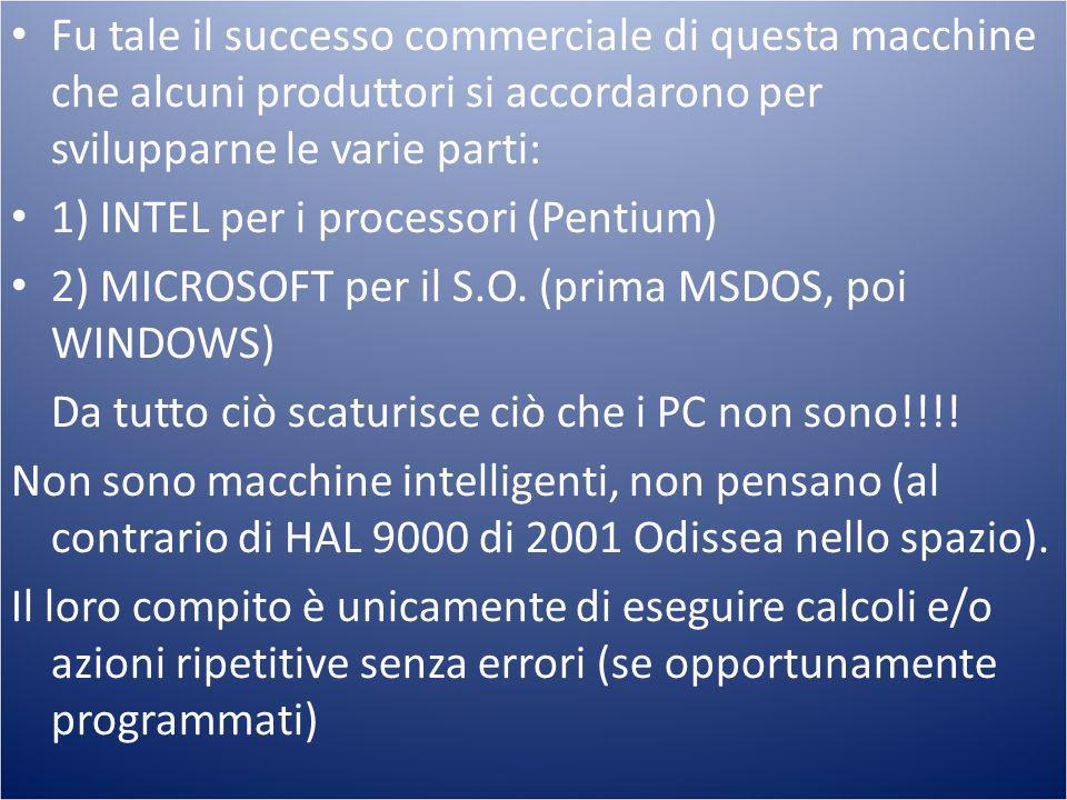 1) INTEL per i processori (Pentium)