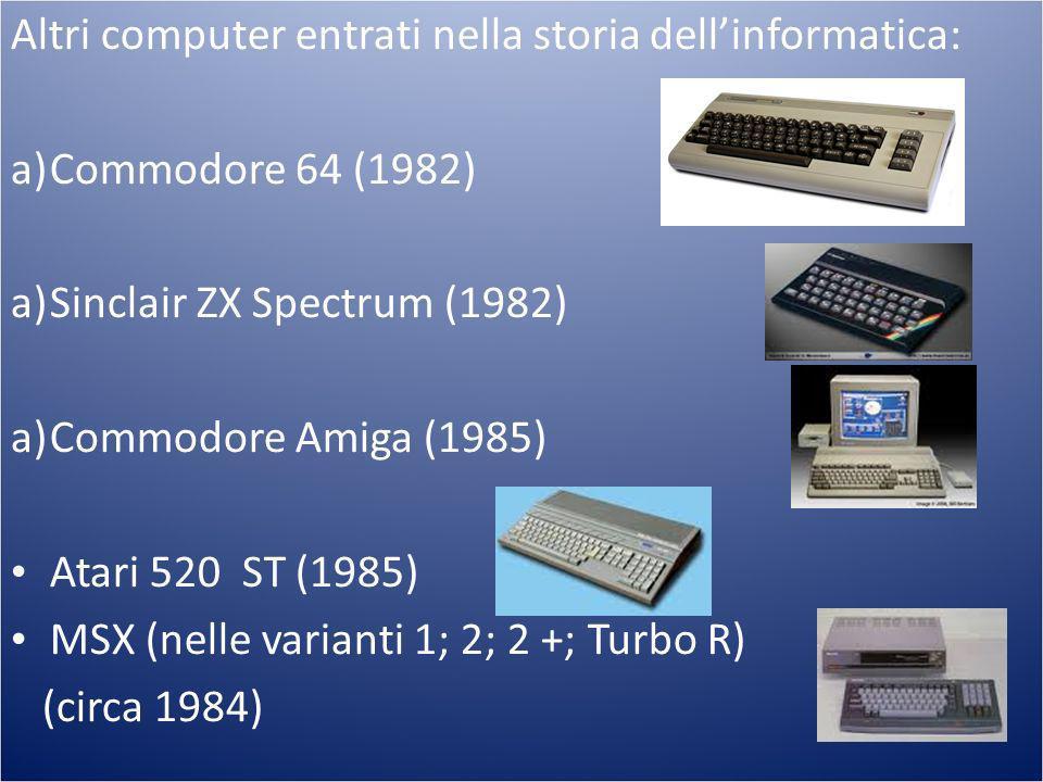 Altri computer entrati nella storia dell'informatica: