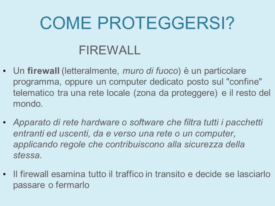COME PROTEGGERSI FIREWALL