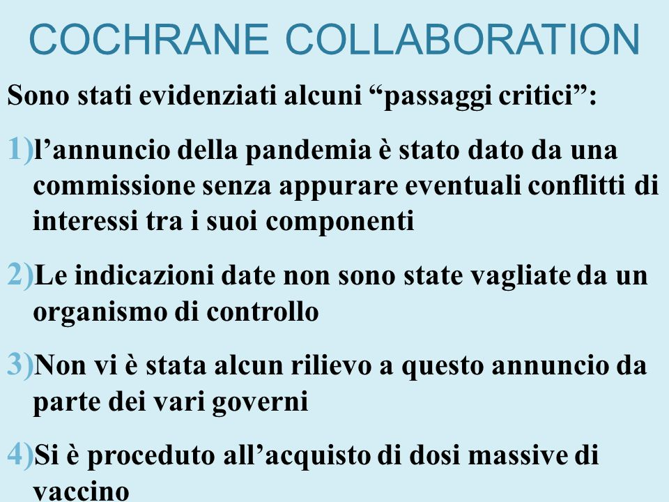 COCHRANE COLLABORATION