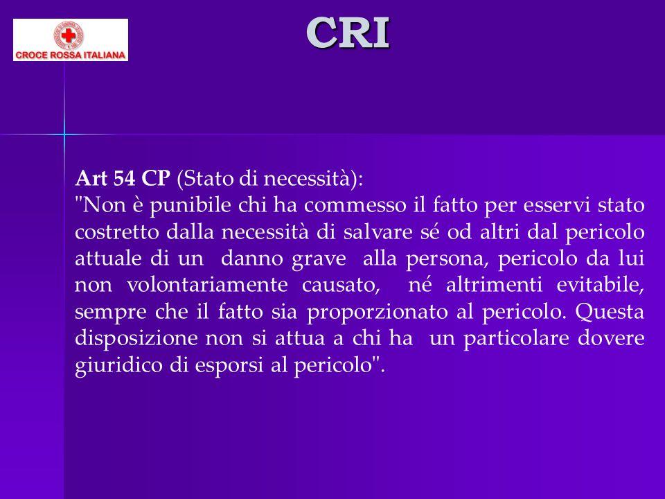 CRI Art 54 CP (Stato di necessità):