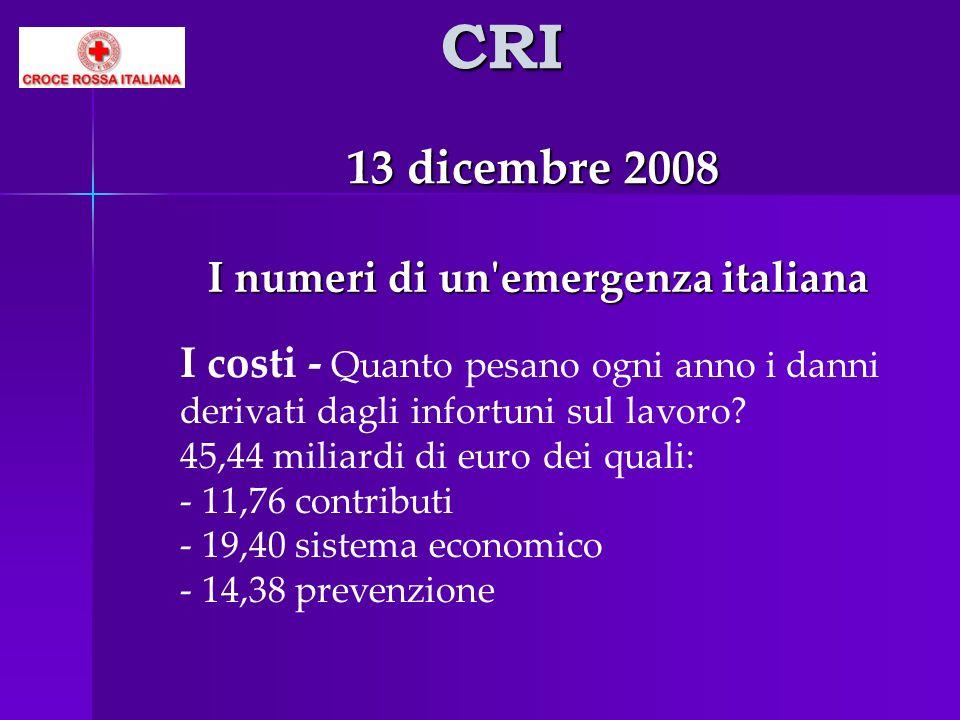 I numeri di un emergenza italiana