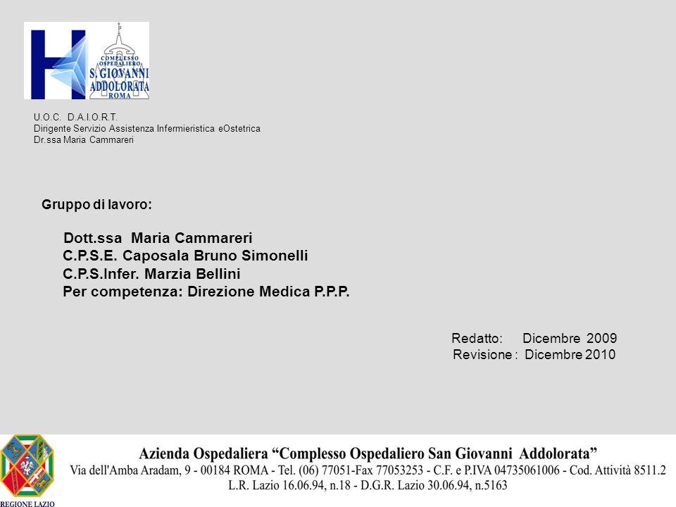 C.P.S.E. Caposala Bruno Simonelli C.P.S.Infer. Marzia Bellini