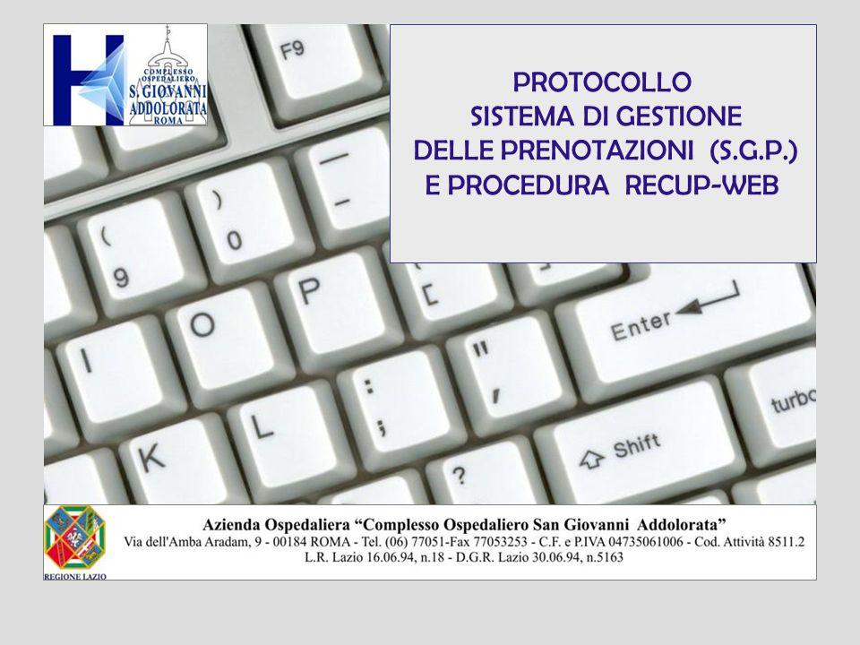 DELLE PRENOTAZIONI (S.G.P.)