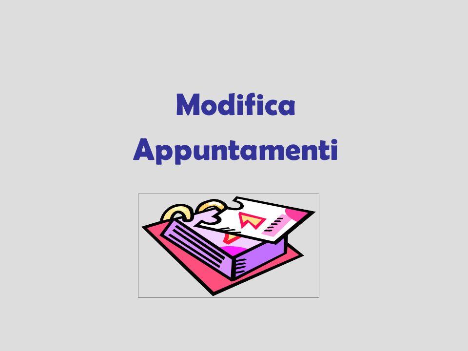 Modifica Appuntamenti