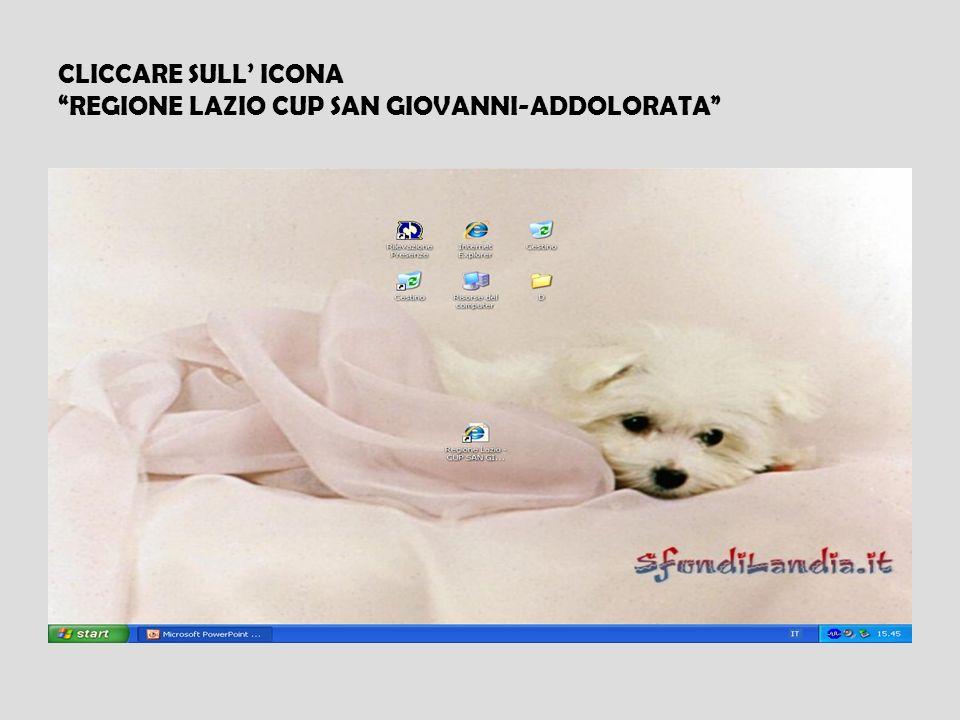 CLICCARE SULL' ICONA REGIONE LAZIO CUP SAN GIOVANNI-ADDOLORATA