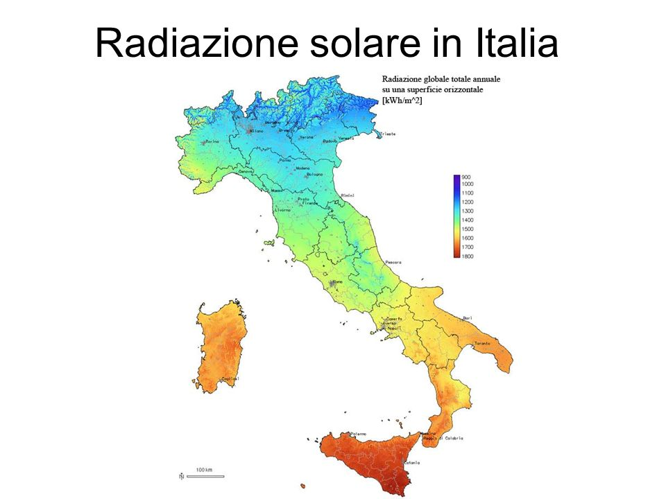 Radiazione solare in Italia