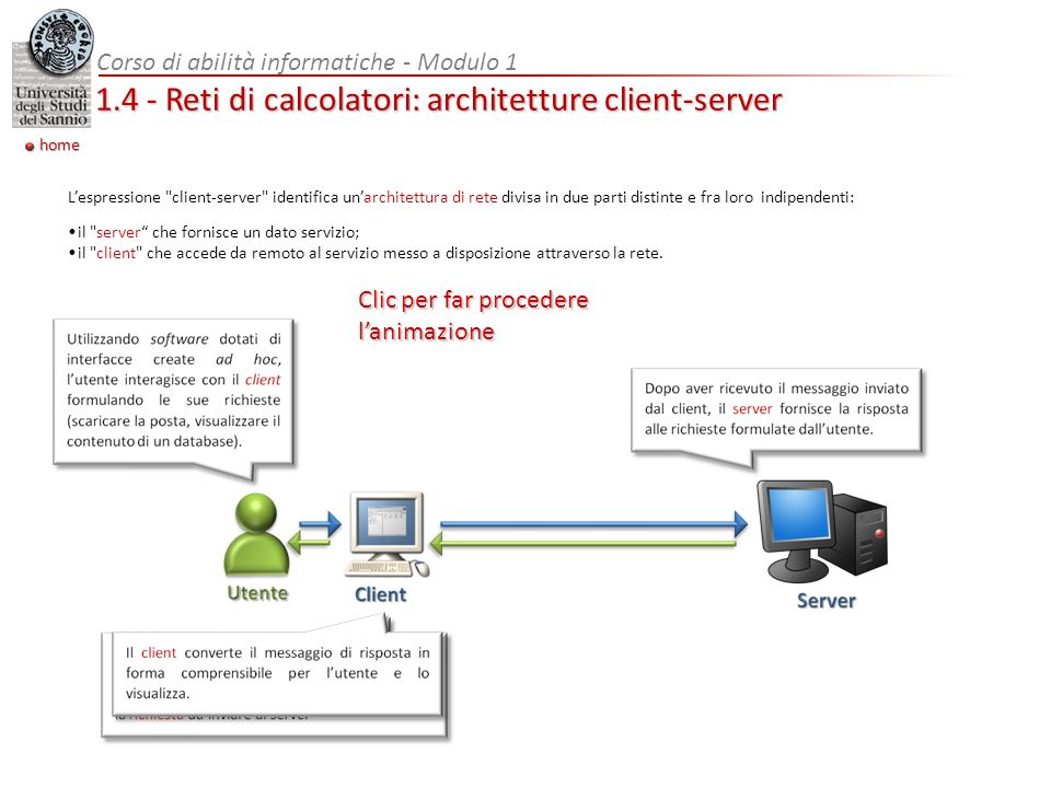 1.4 - Reti di calcolatori: architetture client-server