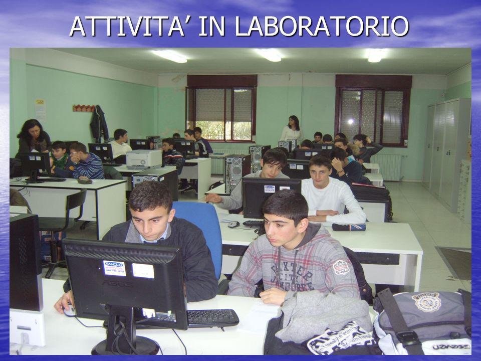 ATTIVITA' IN LABORATORIO