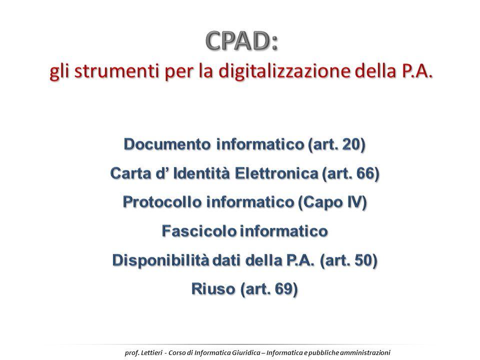 CPAD: gli strumenti per la digitalizzazione della P.A.