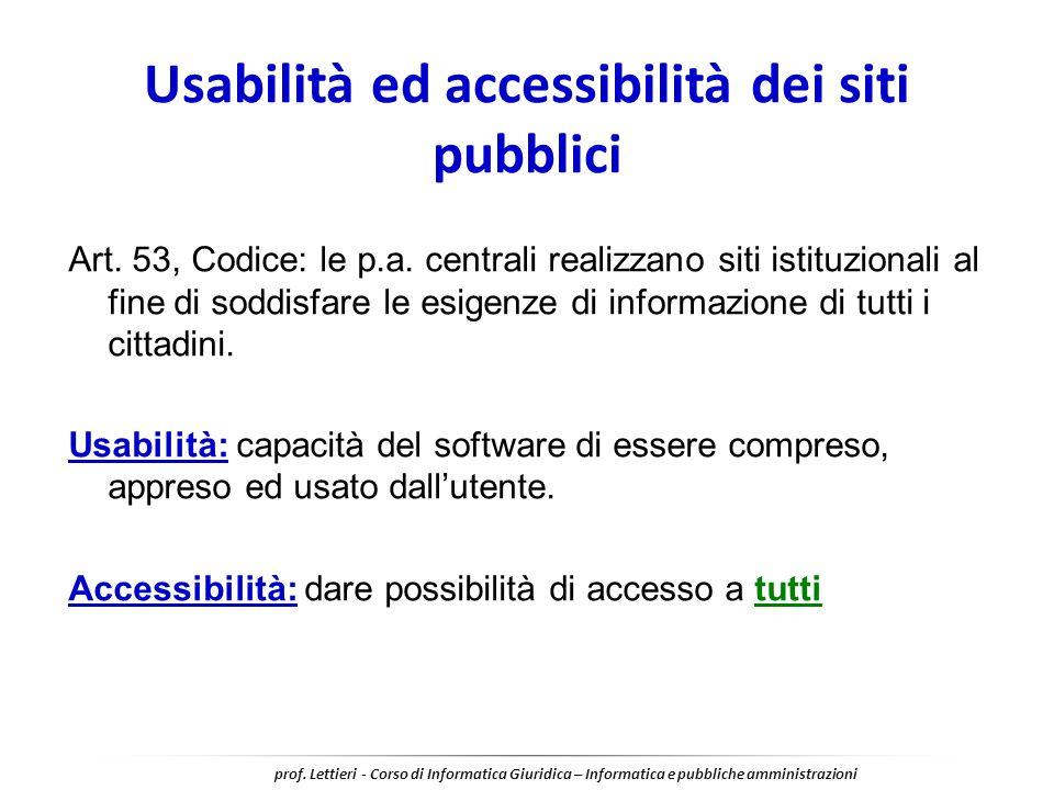 Usabilità ed accessibilità dei siti pubblici