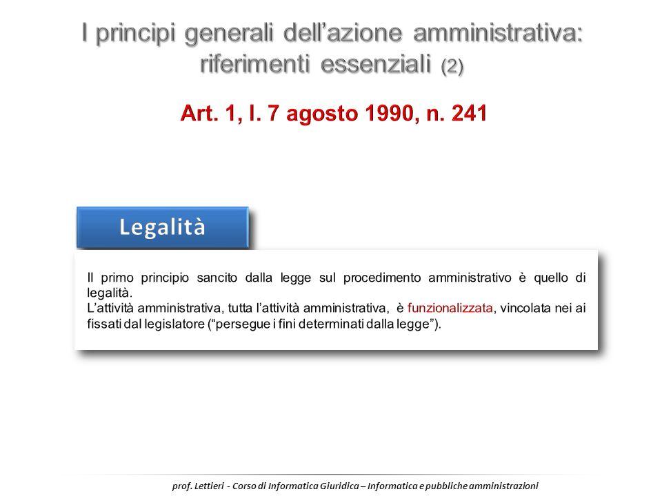 I principi generali dell'azione amministrativa: riferimenti essenziali (2)
