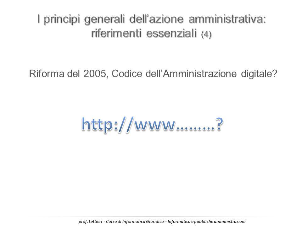 Riforma del 2005, Codice dell'Amministrazione digitale