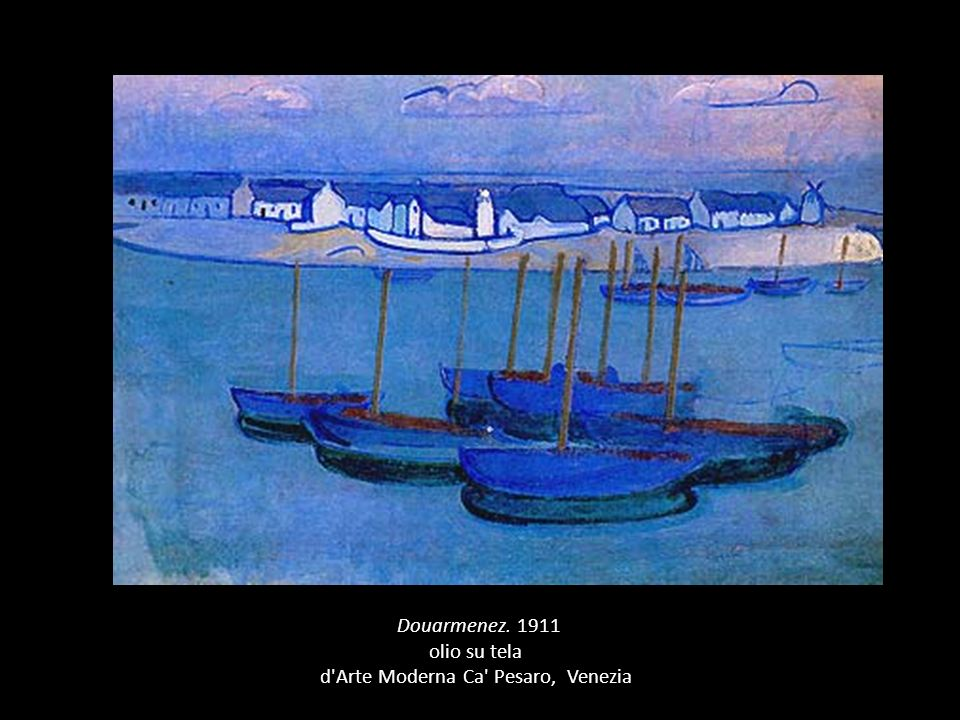 (Douarmenez. 1911 olio su tela d Arte Moderna Ca Pesaro, Venezia