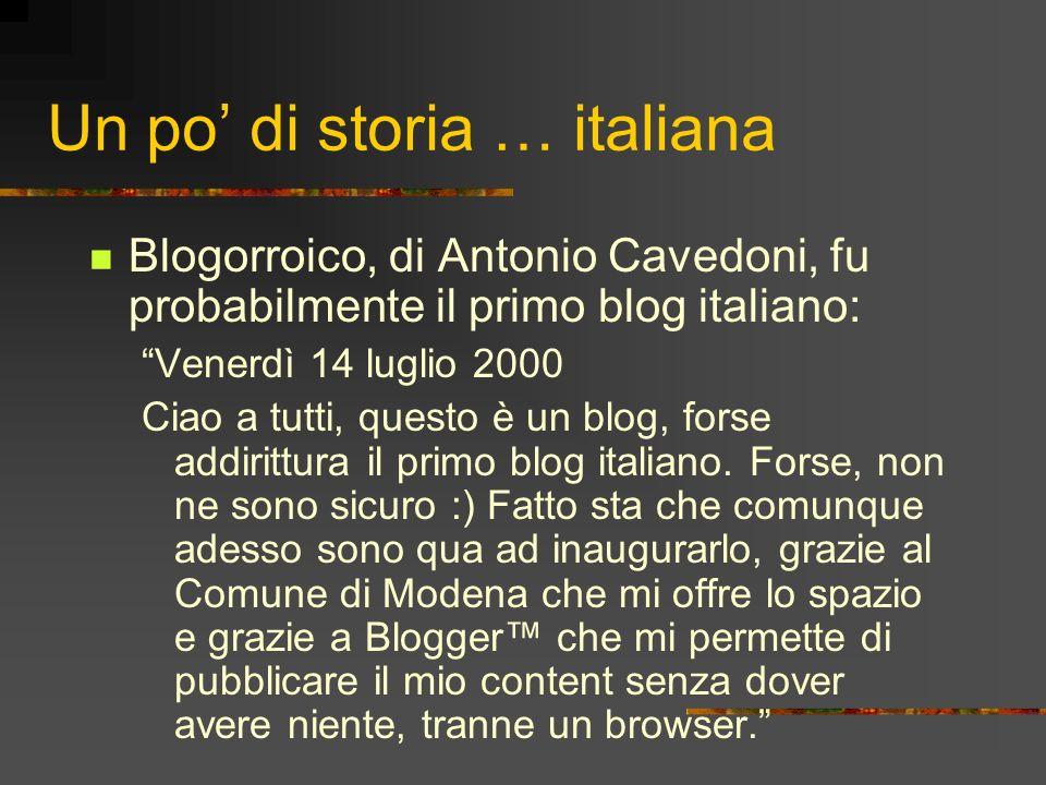 Un po' di storia … italiana