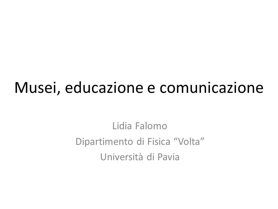 Musei, educazione e comunicazione
